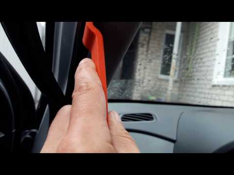 Как снять панель передней стойки Hyundai Creta