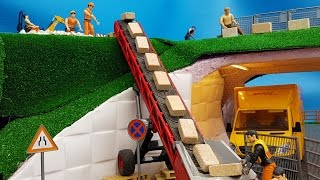 BRUDER toys construction site!