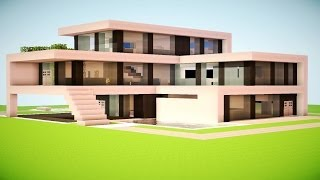 getlinkyoutube.com-MINECRAFT: How To build A Modern House / Best modern House 2013 - 2014 ( hd ) Tutorial
