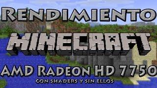 getlinkyoutube.com-Rendimiento: MINECRAFT con y sin Shaders AMD Radeon HD 7750 | R7 250