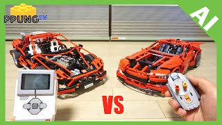 LEGO Mindstorm EV3 - Parking competition, AI vs Human by 뿡대디