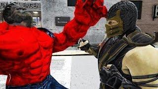 getlinkyoutube.com-SCORPION VS RED HULK - GREAT BATTLE - GTA IV