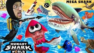 getlinkyoutube.com-HUNGRY SHARK WORLD!  MegaMouth Sharks' Eat Everything, Even BOMBS!  FGTEEV Attack At Sea! HEHE