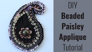 getlinkyoutube.com-DIY Beaded Paisley Applique [Free Patterns!]