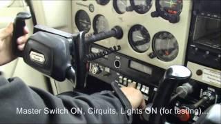 getlinkyoutube.com-Cessna 152 cockpit flight training (start-up, pre-flight, takeoff, climb)