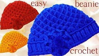 getlinkyoutube.com-Gorro boina en punto cocodrilo tejido a Crochet o Ganchillo