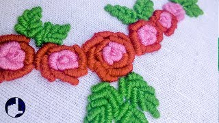 getlinkyoutube.com-Hand Embroidery Pattern | Bullion Stitch |  HandiWorks #37
