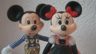 getlinkyoutube.com-Mickey ou Minnie Mouse - , corpo, cabeça e proporçoes -Topo/ Lembrancinhas/ Biscuit / Porcelana fria