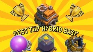 getlinkyoutube.com-BEST TH7 HYBRID BASE SPEED BUILD - Clash of Clans