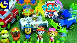 getlinkyoutube.com-NEW Paw Patrol Jungle Trouble Rescue Vehicle Toys, Tracker the New Pup and All Stars Pups Toys too!