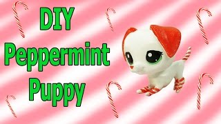 getlinkyoutube.com-Custom LPS DIY Peppermint Candy Cane Puppy Dog Inspired Littlest Pet Shop Blind Bag Craft