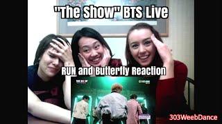 """getlinkyoutube.com-방탄소년단 BTS RUN / Butterfly (Reaction) 151208 """"The Show"""""""