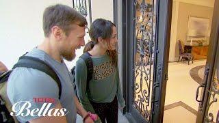 Brie, Bryan, J.J. and Josie arrive at John and Nikki's house: Total Bellas, Oct. 5, 2016