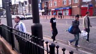 getlinkyoutube.com-Hull City Promotion Celebrations after Cardiff game,idiot starting fight at New Griffin pub