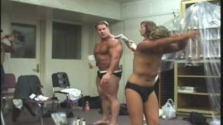 Trevor Guest Poses with Jay Cutler at the 2009 NPC Jr. Cal