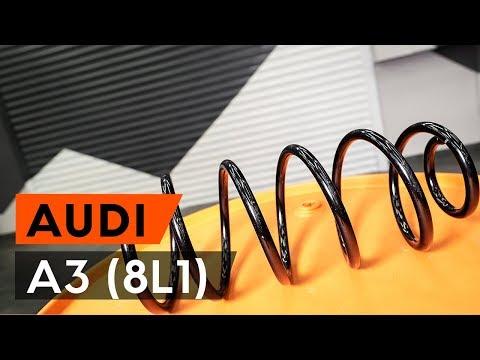 Как заменить переднюю пружину стойки амортизатора на AUDI A3 1 (8L1) [ВИДЕОУРОК AUTODOC]
