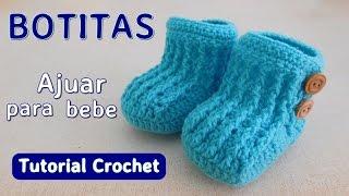 Como tejer un ajuar: zapatito para bebe a crochet