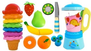 getlinkyoutube.com-Best Learning Colors Video Paw Patrol Ice Cream Toy Blender Learn Fruits with Wooden Velcro Toys