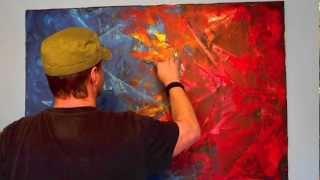 Acrylmalerei Spachteltechnik abstrakt