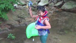 getlinkyoutube.com-계곡 물속에서 조립하는 레고 히어로팩토리 조비스트와 스토머 정품