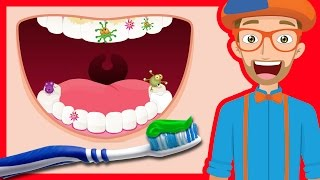 getlinkyoutube.com-Tooth Brushing Song by Blippi | 2-Minutes Brush Your Teeth for Kids