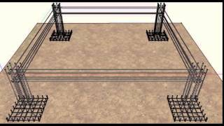 getlinkyoutube.com-Reinforced Concrete Building Design - Sketch Up Animation