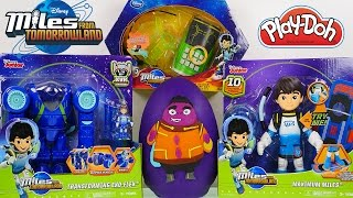 Mega Miles From Tomorrowland Toys Unboxing! Giant Play Doh Surprise Egg Transforming Robot