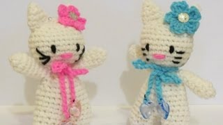 getlinkyoutube.com-Crochet Amigurumi Hello Kitty -1- كروشيه دمية هالو كيتي