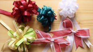 getlinkyoutube.com-DIY Geschenkschleifen binden / 5 Varianten / © Probiere das mal aus!