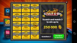getlinkyoutube.com-8 Ball Pool unlimited scratches glitch