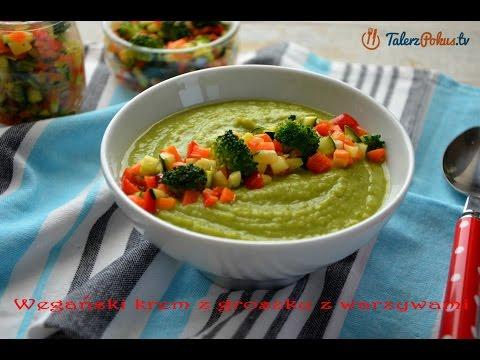 Wegeński krem z groszku z warzywami