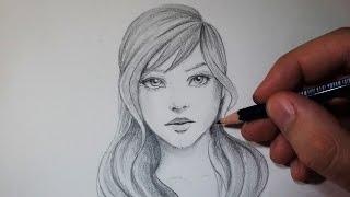 getlinkyoutube.com-Comment dessiner un visage : Avec un crayon gris [Tutoriel]