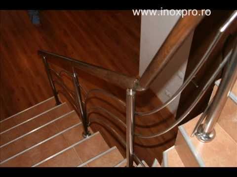 Balustrade inox lemn | modele balustrade inox | Inoxpro