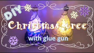 getlinkyoutube.com-【100均グルーガンDIY】まるでガラス細工!きらきら☆かわいいクリスマスツリーの作り方 ~ How to make a mini christmas tree with glue gun ~