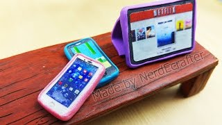 DIY MINIATURE TABLET AND PHONE Tutorial Polymer Clay - how to make ipad miniature case