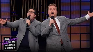 getlinkyoutube.com-Josh Gad Sings His Way Into James Corden's Monologue