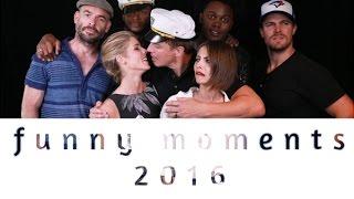 getlinkyoutube.com-Arrow Cast || funny moments [2016]