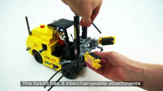 getlinkyoutube.com-Lego Technic RC Hyster Forklift with pneumatic attachments