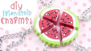 getlinkyoutube.com-♡ DIY Watermelon Friendship Charms ♡ | Kawaii Friday