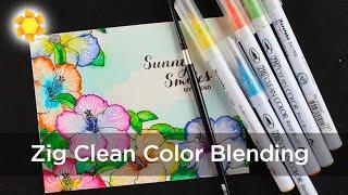 getlinkyoutube.com-Clean Color Pens - Watercolor Hibiscus