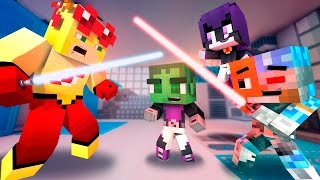 getlinkyoutube.com-BABY PLAY WITH LIGHTSABERS! KIDFLASH Babysitter! (EP 2 Minecraft Who's Your Daddy) Baby Titans