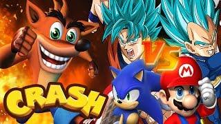 getlinkyoutube.com-Crash Bandicoot vs Mario Sonic Goku | Crash Meets DBZ | DBZ Tenkaichi 3 (MOD)