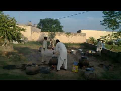 Gujrat Pakistan Making Food at Cousin DERAA in Our Village