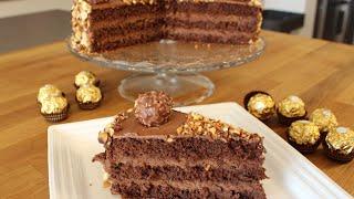 getlinkyoutube.com-Ferrero ROCHER-Torte / Ferrero Rocher-Cake / leckere Schokoladen-Sahne-Torte