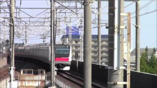 getlinkyoutube.com-JR京葉線舞浜駅、夕方の土休日の様子。 Jr Keiyo LIne  Maihama Station