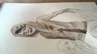 getlinkyoutube.com-【殺戮の天使】描いてみた。【真夜☪】
