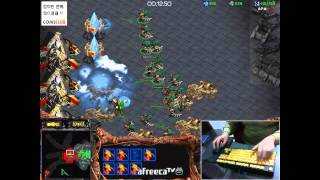 getlinkyoutube.com-2014.11.26 빨무1:1 물량 저그(Zerg) 로 토스 고수(?)와 빡신 게임! Fastest Maps in StarCraft Brood War(1vs1 Play)