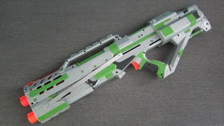 getlinkyoutube.com-[MOD] Nerf Longshot Stampede Integration [Shotgun Priming Grip]