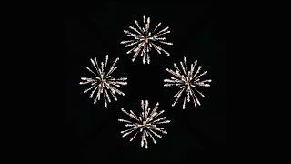 getlinkyoutube.com-Musical Fireworks - Pyramid Hologram Screen Down [4K]