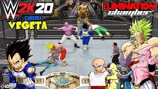 "WWE 2K16: ""Vegeta VS Bills,Golden Freezer y broly"" - (Chamber Elimination 2016)"